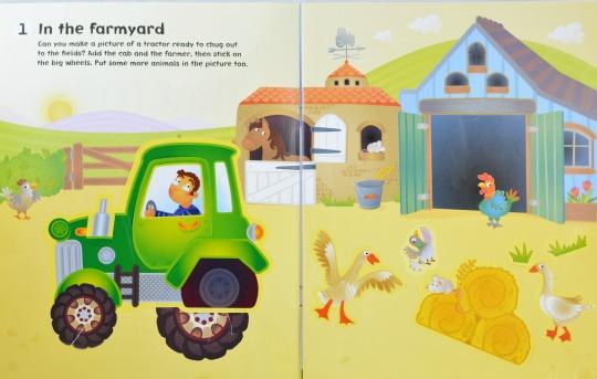 Take a look inside an Usborne sitcker book for kids