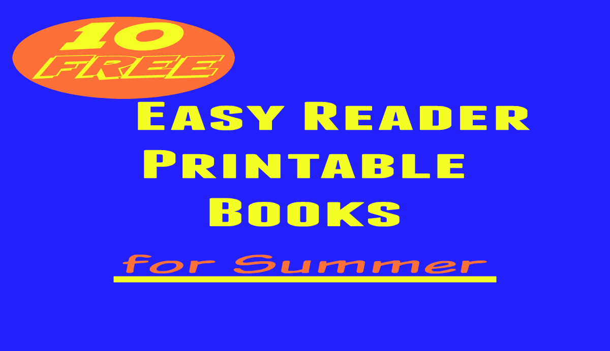 summer easy reader printable books for kids