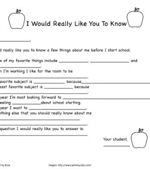 A back to school letter for kids to write to their teacher