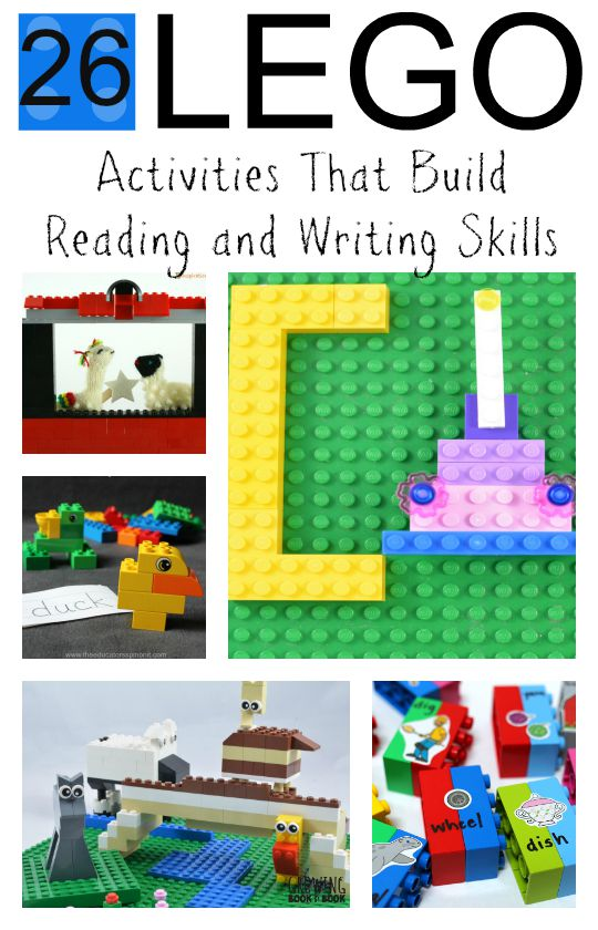 26 hands-on Lego activities that build reading and writing skills!