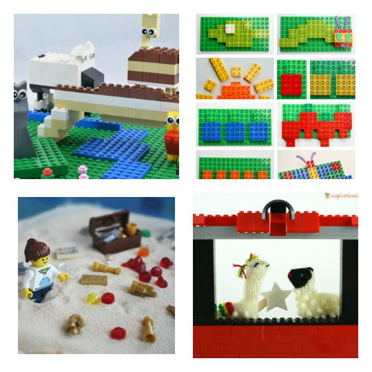 Lego activities that encourage storytelling with kids.