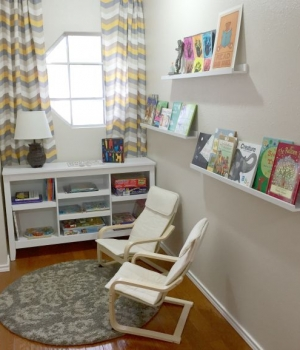 Create an end of the hallway reading nook for kids.