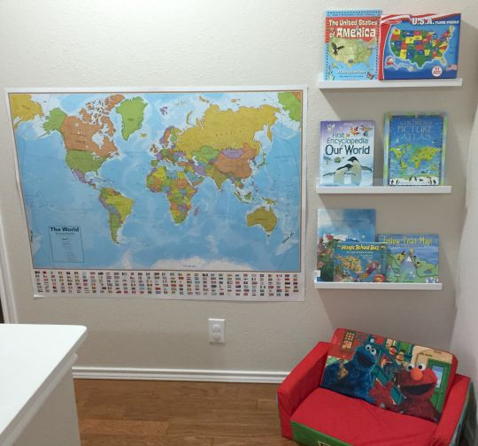 A geography reading nook for kids