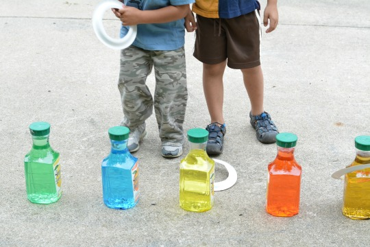 playing rhyming ring toss activity