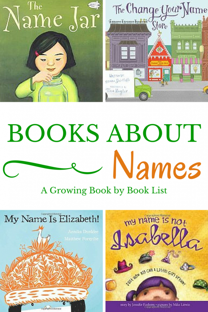 Books about Names is a fun book list for back to school or a learning your name unit!