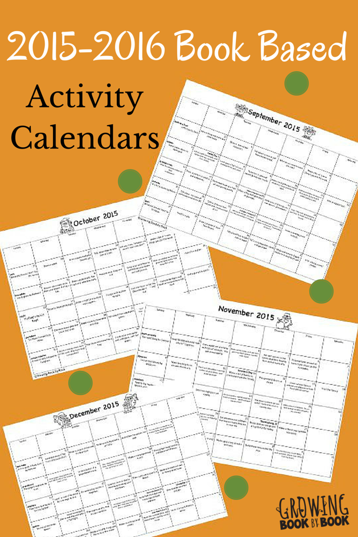 book based activity calendars