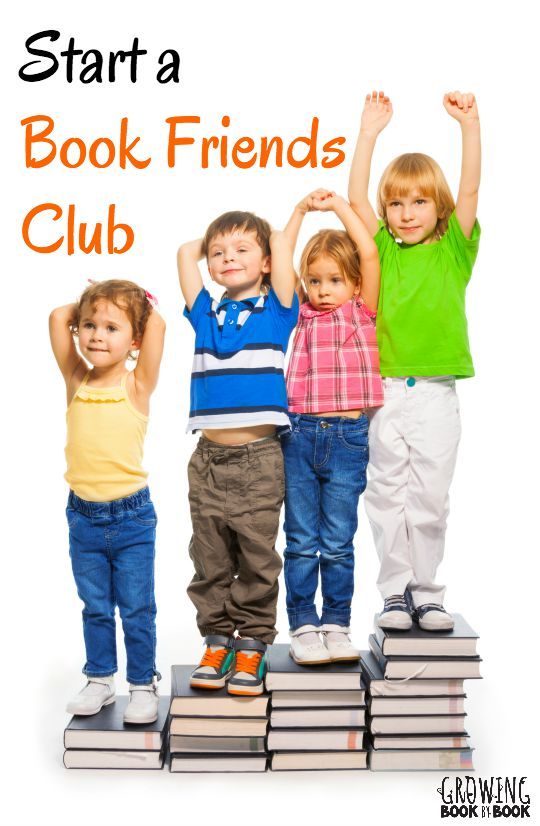 Everything you need to start a book friends club for kids who love to read books!