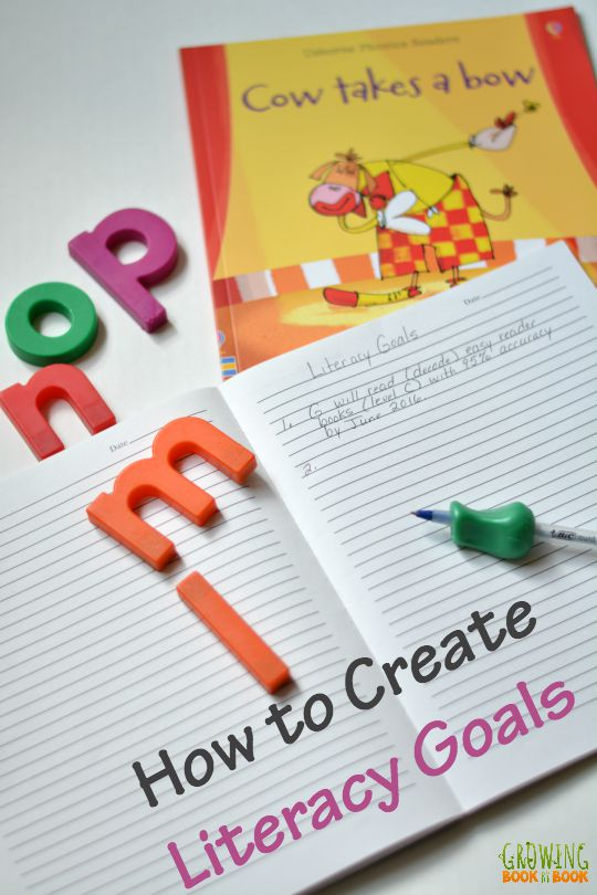 Create literacy goals for your child this school year with these helpful steps from Growing Book by Book.