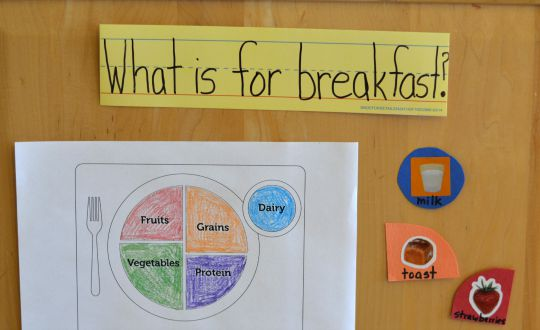 Teach kids how to be responsible by selecting what healthy choices to have at breakfast.