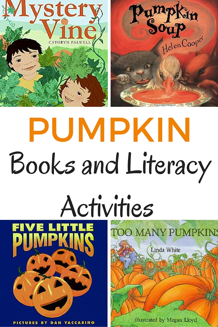 Pumpkin books and literacy activities for the fall season.