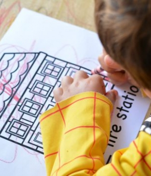 coloring the free fire station printable book