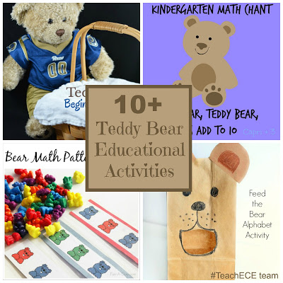10+ Teddy Bear Activities for math, science, literacy and more!