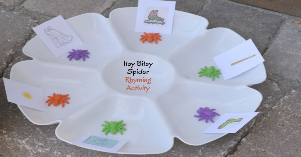 the itsy bitsy spider rhyming activity