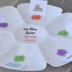 the itsy bitsy spider rhyming activity