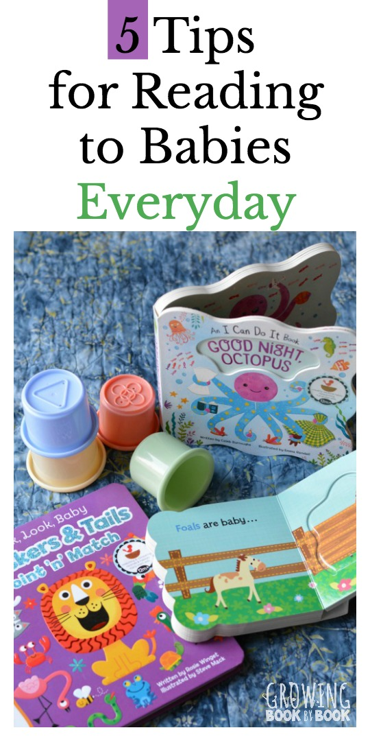 Tips for helping you weave reading into baby's day. Great ideas for making sure you read to baby each day.