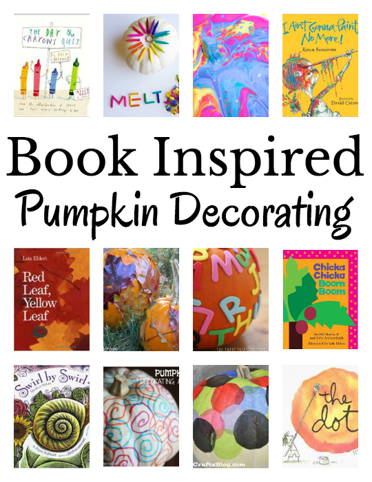 Let children's books inspire your pumpkin decorating. Book recommendations and decorating pumpkin ideas!