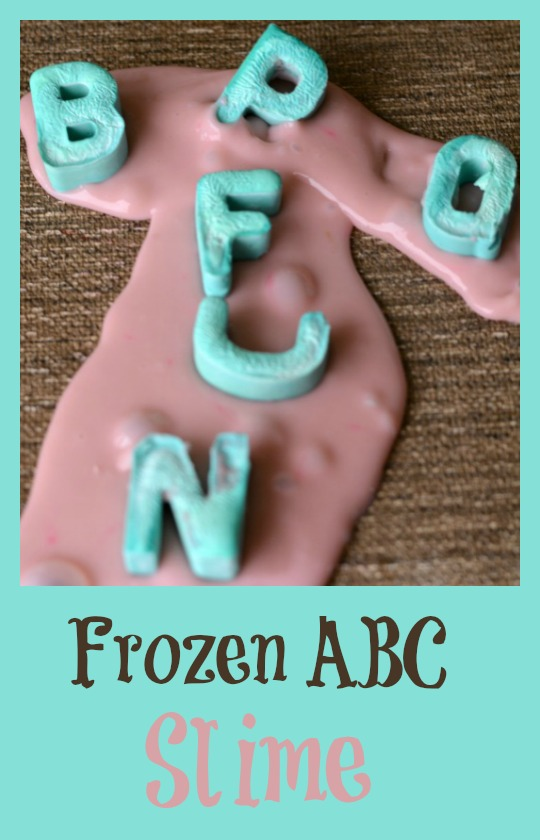 Did you know you can freeze slime? Create a double sensory experience with frozen alphabet slime. A super fun alphabet activity!