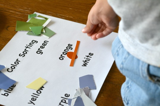 color sorting with a free printable