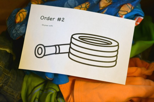 packing an order for Amazon pretend play