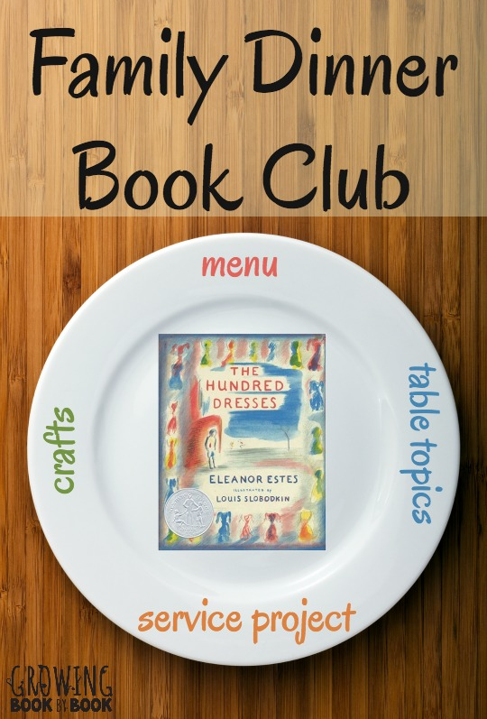 Everything you need for your very own The Hundred Dresses Family Dinner Book Club. Get your themed menu, table crafts, conversation starters and family service project to create your dinner club.