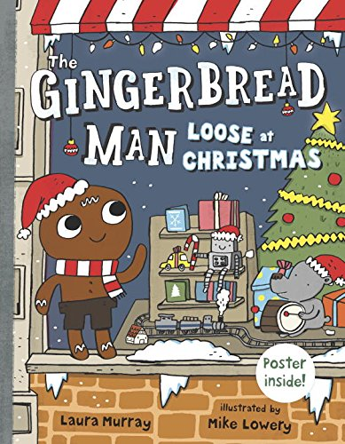 The Gingerbread Man Loose at Christmas Book and Ornament