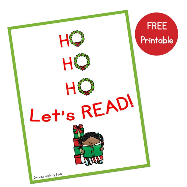 A free printable Christmas poster to encourage reading.
