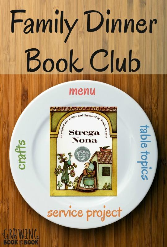 Strega Nona Family Dinner Book Club - Book table for dinner