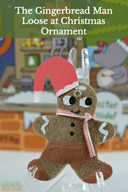 Make a gingerbread salt dough ornament to compliment the book, The Gingerbread Man Loose at Christmas book. A great Christmas activity for kids or families.