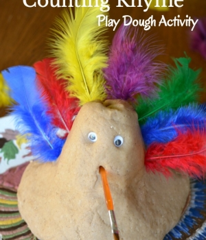 A counting rhyme to help kids count from 6-10 that is a perfect Thanksgiving activity. A great way to teach phonological awareness with a turkey play dough idea twist!