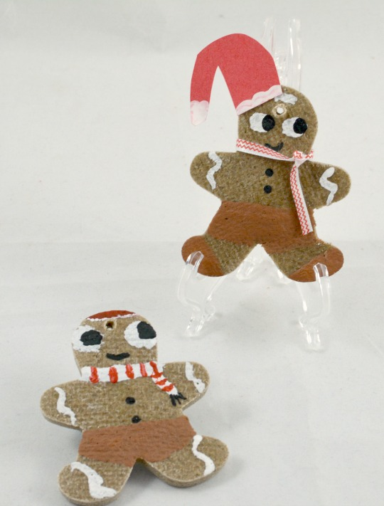 finished gingerbread men salt dough ornaments