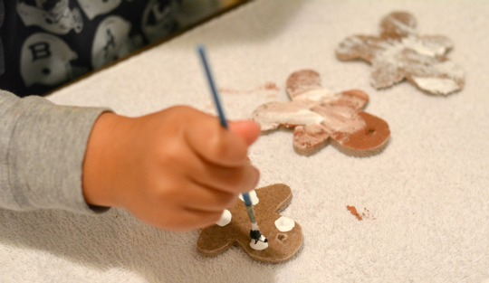 painting gingerbread men