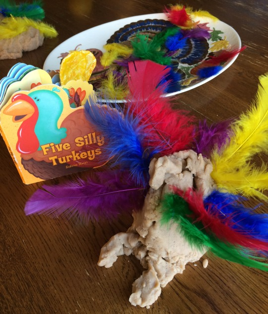 building turkeys with rhyming counting feathers