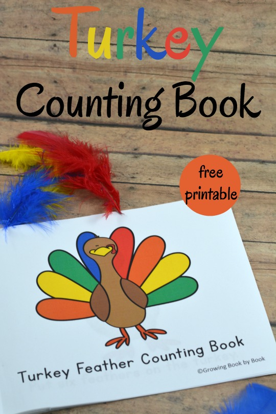 photo relating to Printable Turkey Feather referred to as A Printable and Interactive Turkey Counting Ebook