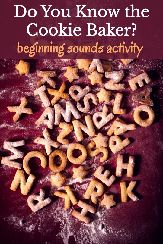 Who Knows the Cookie Baker? song is a fun way to work on teaching beginning sounds for preschoolers.
