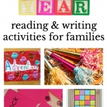 New Year's ideas for families that will start the year with families reading, writing and having fun. Great activities for New Year's Eve and and throughout the year.