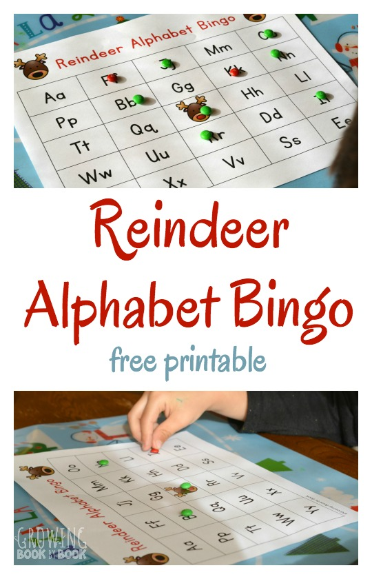 photograph relating to Letter Sound Games Printable named Reindeer Alphabet Bingo