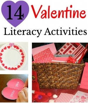 14 wonderful Valentine's activities that will build literacy skills. ABC activities, sight word ideas, learning your name games and more!