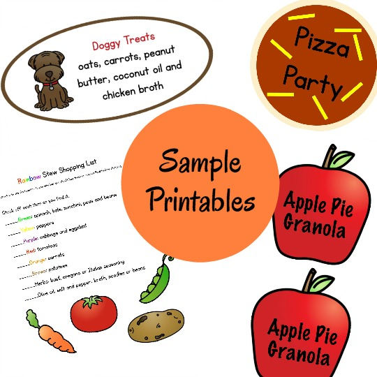 printables included in Read, Create & Share