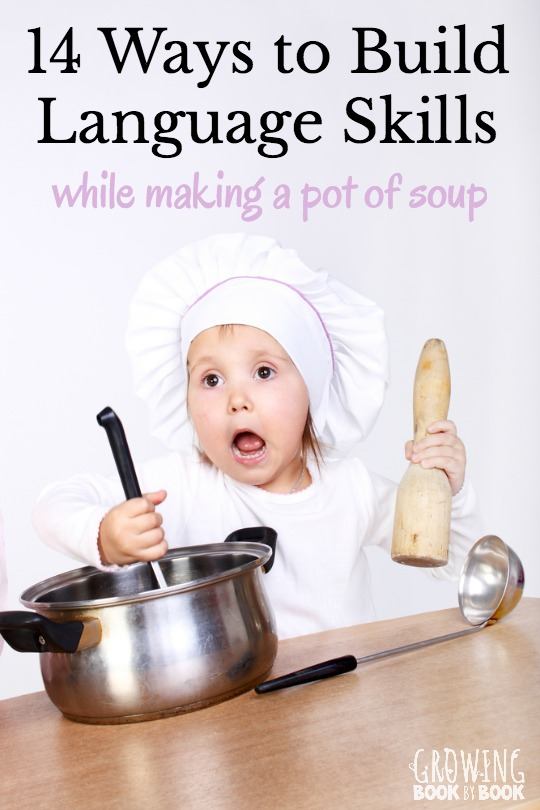 One cooking experience with your child can build loads of language skills. Here are 14 ideas to use to help develop vocabulary, phonological awareness and communication skills.