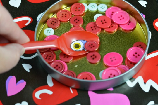 buttons ready the Valentine alphabet activity