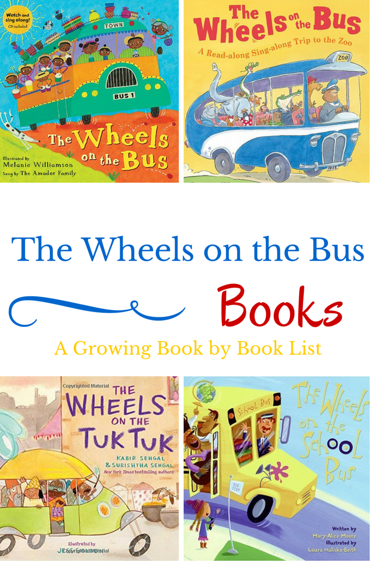 Here are some variations of The Wheels on the Bus books for toddlers and preschoolers. A super fun list of books for kids.