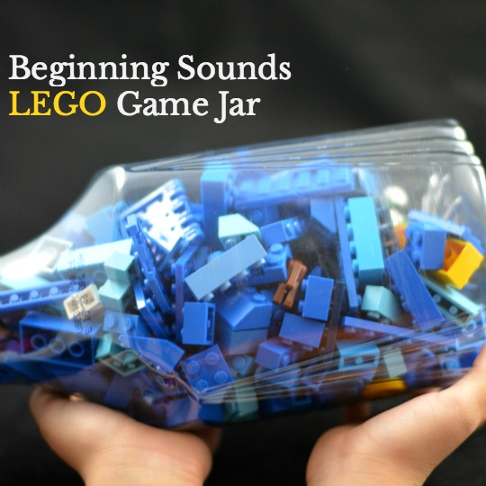 Create a super easy Lego game to work on phonological awareness.
