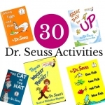 A week worth of Dr. Seuss activities for preschoolers including ideas for The Cat in the Hat, One Fish Two Fish Red Fish Blue Fish, Great Day for Up, There's a Wocket in my Pocket and Green Eggs in Ham. A whole Dr. Seuss themed unit waiting for lots of hands on play and learning.