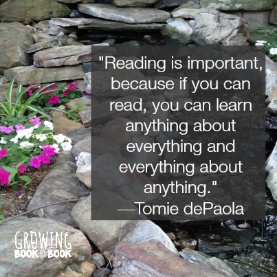 Why is reading important quote by Tomie dePaola