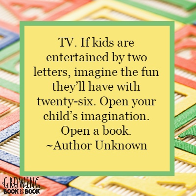 Entertain your kids with books instead of tv.
