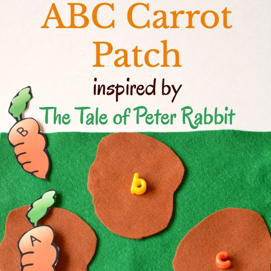 ABC game to play for a carrot themed unit