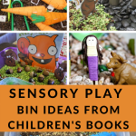 sensory bins to go with children's books