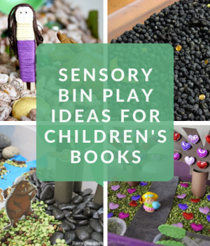 sensory bin ideas for kids to go with books for kids