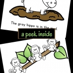 A peek inside the interactive free printable book all about zoo fun for young readers.