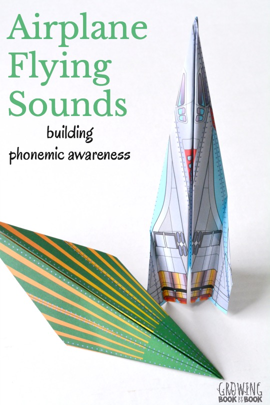 Build phonemic awareness with a fun and playful paper airplane activity. Perfect to use with preschoolers and kindergarten students.